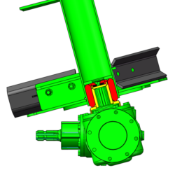 Green Auger With Blades And Drive Coupling